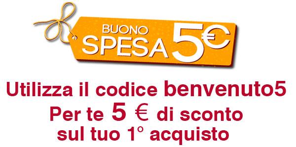 buono 5 euro sul primo acquisto