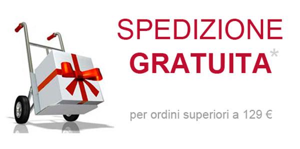 Spedizione gratuita per ordini superiori a 129 euro
