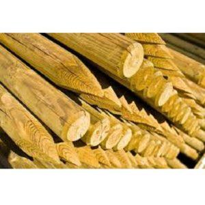 pali-legno-pino-trattati-autoclave-punta-corona-giardino